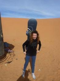 sci nel deserto dune sabbia snowboard P1100117