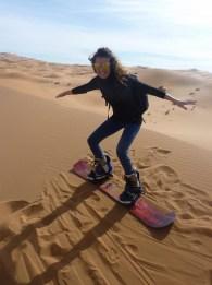 sci nel deserto dune sabbia snowboard P1100131