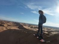 sci nel deserto dune sabbia snowboard P1100178