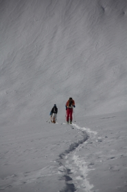 Fletschorn discesa sci parete nord via viennesi scialpinismo sci ripido giacomo jack longhi mountainspaceIMG_4687