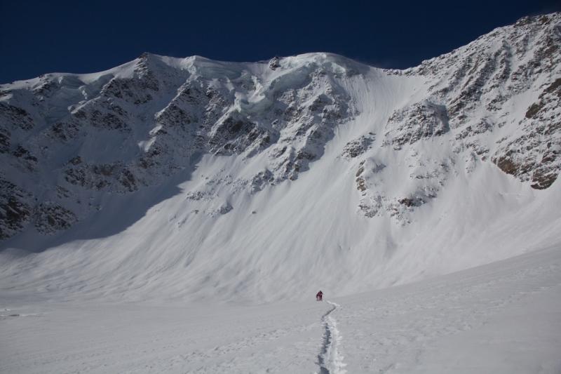 Fletschorn discesa sci parete nord via viennesi scialpinismo sci ripido giacomo jack longhi mountainspaceIMG_4689