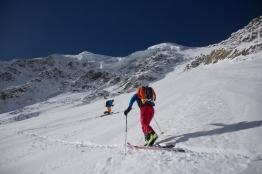 Fletschorn discesa sci parete nord via viennesi scialpinismo sci ripido giacomo jack longhi mountainspaceIMG_4699