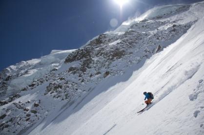 Fletschorn discesa sci parete nord via viennesi scialpinismo sci ripido giacomo jack longhi mountainspaceIMG_4739