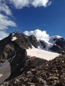Piz cambrena via del seracco scivolo nord piz arlas piz palu mountainspace skialper bernina diavolezza alpinismo engadina palù naso ghiaccio giacomo longhi michele gusmini (17)