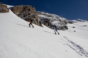 Scialpinismo monte rosa monte rosa highway skialper capanna margherita giacomo longhi mountainspace vincent parrot corno nero balmenhorn zumstein - (2)