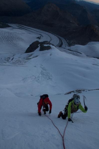 Piz Palu - quarto sperone - palu bernina soresini kuffner alpinismo diavolezza cambrena giacomo longhi mountainspace marco ballerini giorgio colzani (6)