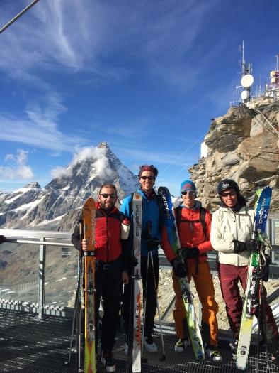 Dynastar cham cervinia giacomo longhi marco ballerini giovanni longhi scialpinismo freeride camp skialper breithorn plateau rosà (4)