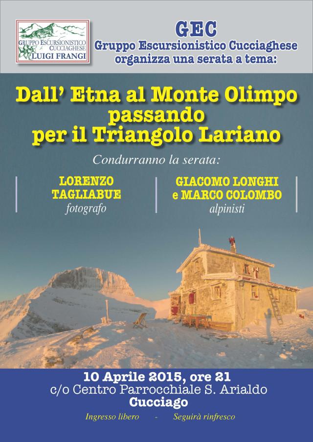 Locandina - Dall'Etna al Monte Olimpo - serata-GEC